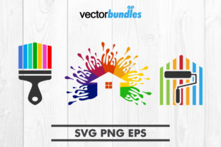 Download Free House Painting Clip Art Graphic By Vectorbundles Creative Fabrica for Cricut Explore, Silhouette and other cutting machines.