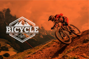 Download Free Mountain Bike Logo Graphic By Shazdesigner Creative Fabrica for Cricut Explore, Silhouette and other cutting machines.