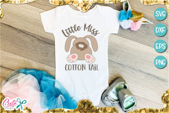 Little Miss Cotton Tail Gráfico Por Cute files