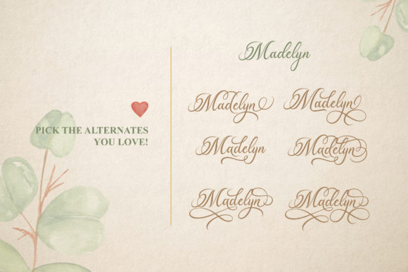 Print on Demand: Madelican Script & Handwritten Font By Subectype - Image 5