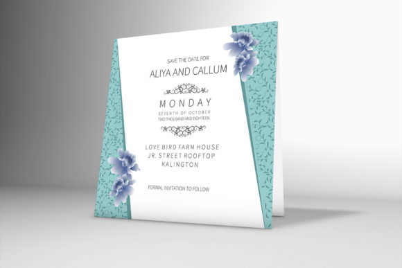 Download Free Floral Border Wedding Invitation Card Graphic By Patternhousepk for Cricut Explore, Silhouette and other cutting machines.