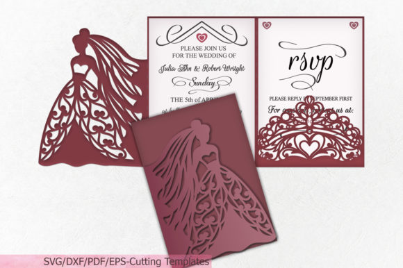Princess Bride Crown Wedding Trifold Graphic Crafts By Cornelia