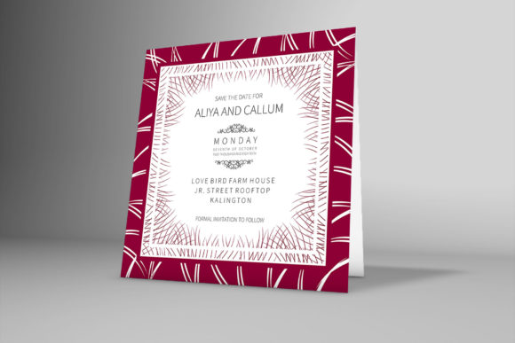 Download Free Florla Border Wedding Invitation Card Graphic By Patternhousepk for Cricut Explore, Silhouette and other cutting machines.
