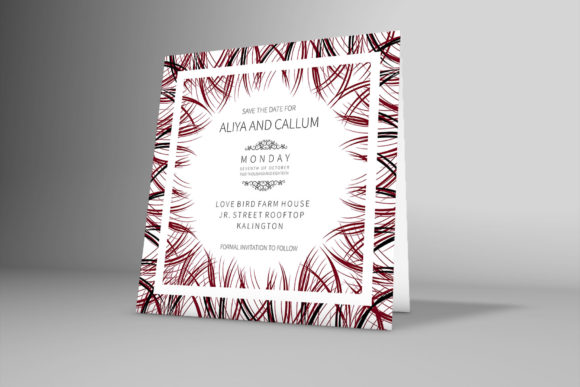Download Free Wedding Card With Beautiful Floral Frame Graphic By SVG Cut Files