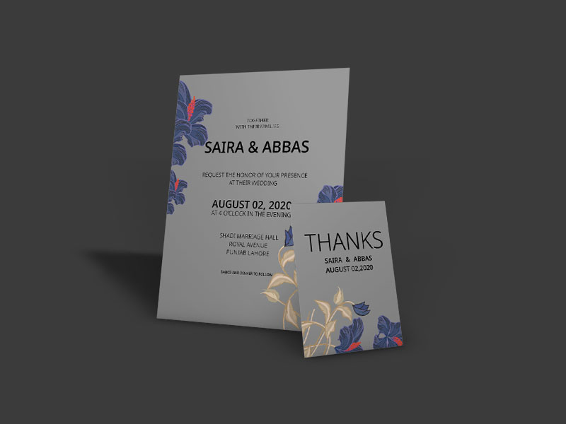 Download Free Floral Wedding Invitation Card Graphic By Patternhousepk for Cricut Explore, Silhouette and other cutting machines.