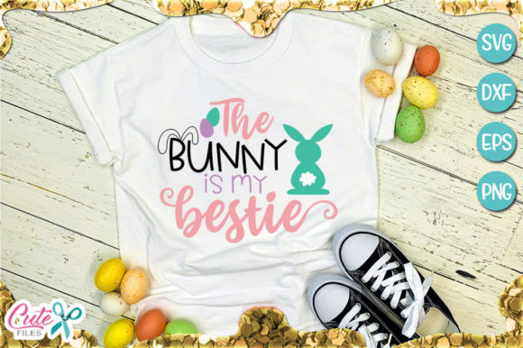 Download Free The Bunny Is My Bestie Graphic By Cute Files Creative Fabrica for Cricut Explore, Silhouette and other cutting machines.