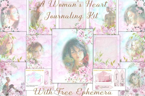 Print on Demand: A WOman's Heart Journal Kit & Ephemera Gráfico Crafts Por The Paper Princess