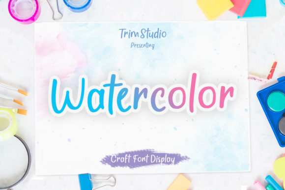 Print on Demand: Watercolor Script & Handwritten Font By Trim Studio