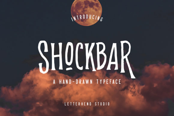 Shockbar Display Font By letterhend