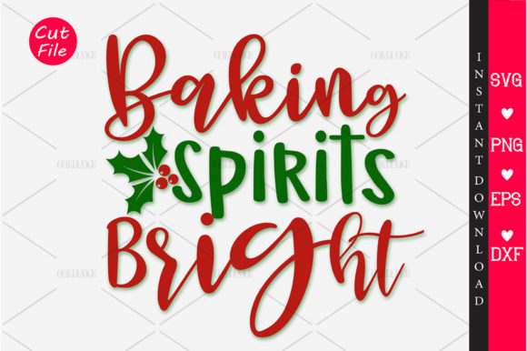 Download Free Baking Spirits Bright Svg Graphic By Orindesign Creative Fabrica for Cricut Explore, Silhouette and other cutting machines.