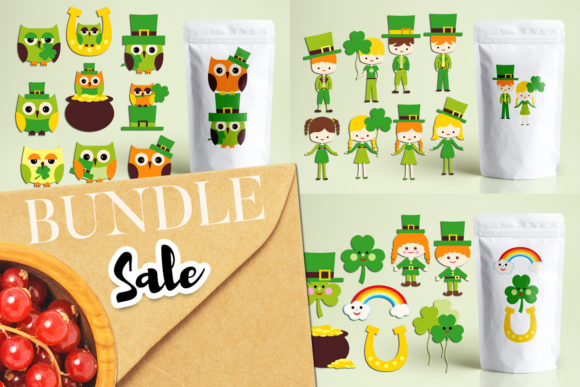 Print on Demand: St Patrick's Day Bundle Graphic Illustrations By Revidevi