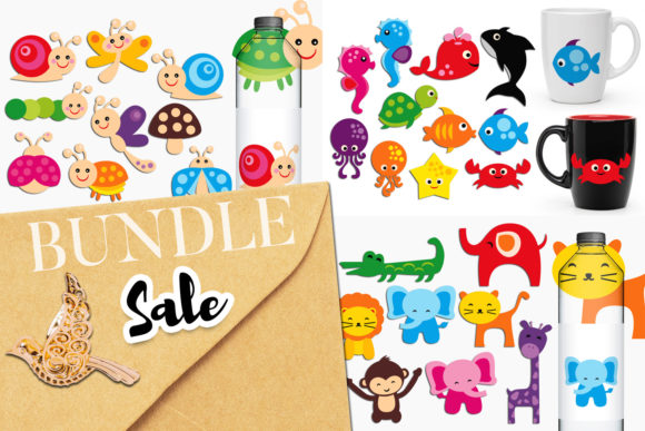 Print on Demand: Animals Bundle Graphic Illustrations By Revidevi