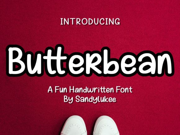 Butterbean Display Font By sandylukee
