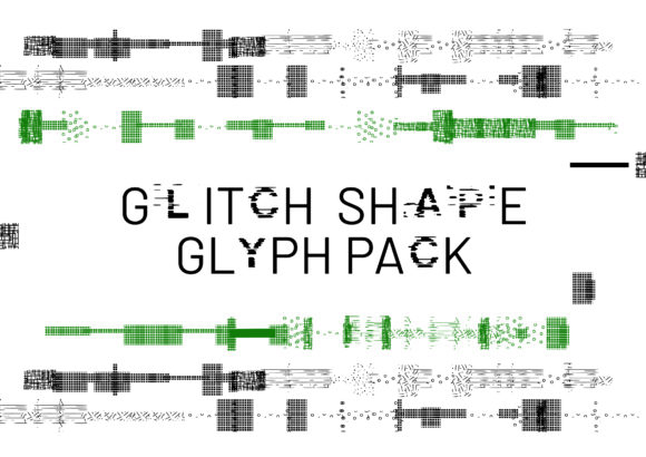 Print on Demand: Glitch Shape Dingbats Font By GraphicsBam Fonts - Image 1