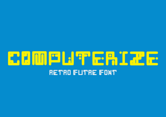 Print on Demand: Computerize Display Font By GraphicsBam Fonts