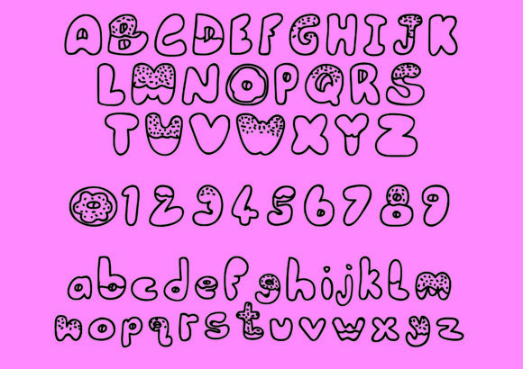 Print on Demand: Donut Script & Handwritten Font By GraphicsBam Fonts - Image 2