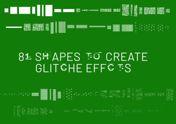Print on Demand: Glitch Shape Dingbats Font By GraphicsBam Fonts - Image 2