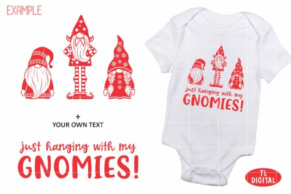 Christmas Gnomes Set of 3 Graphic Illustrations By TL Digital - Image 3