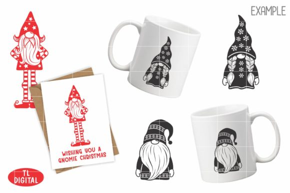 Christmas Gnomes Set of 3 Graphic Illustrations By TL Digital - Image 4
