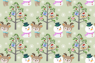 Download Free Cute Snowman And Deer With Owl In Winter Graphic By Ranger262 for Cricut Explore, Silhouette and other cutting machines.