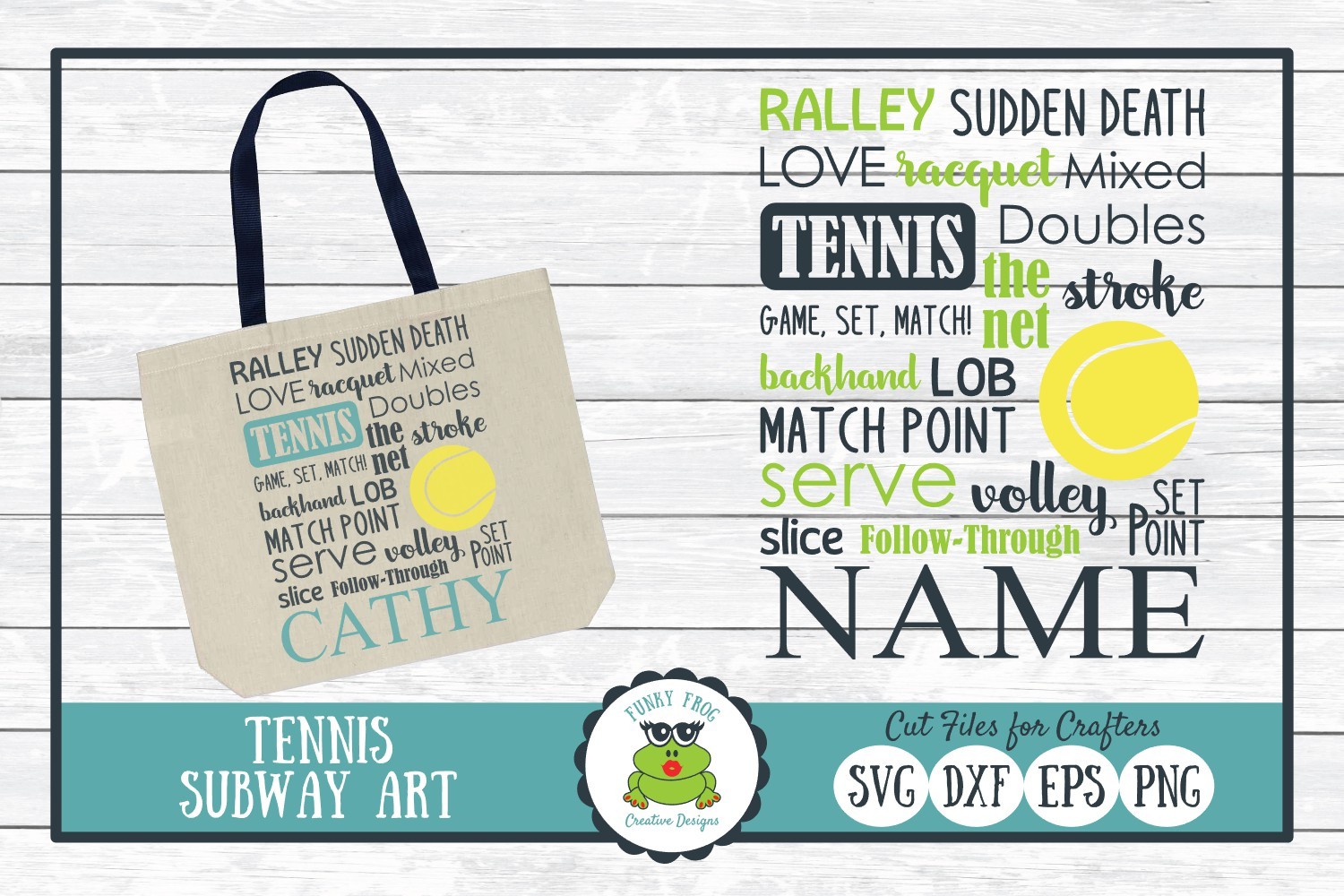 Download Free Tennis Subway Art Graphic By Funkyfrogcreativedesigns Creative for Cricut Explore, Silhouette and other cutting machines.