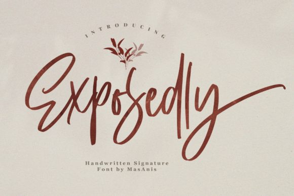 Print on Demand: Exposedly Script & Handwritten Font By Mas Anis - Image 1