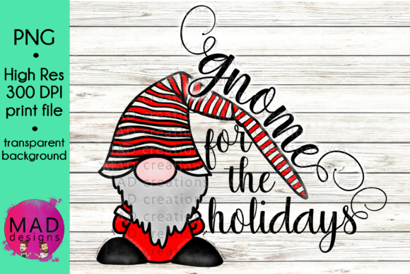 Gnome for the Holidays Graphic Crafts By maddesigns718 - Image 1