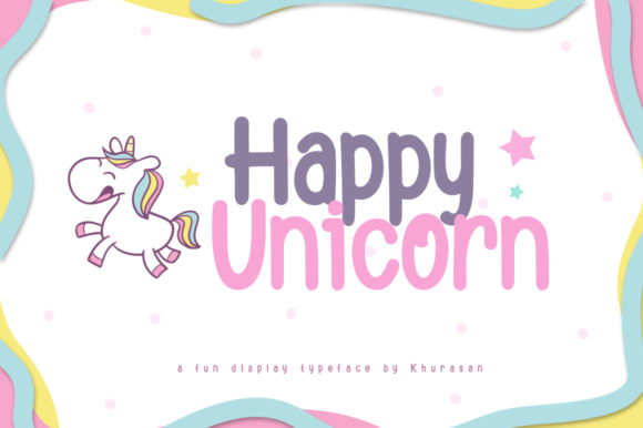 Print on Demand: Happy Unicorn Display Font By Khurasan