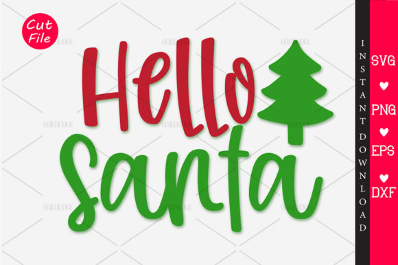 Print on Demand: Hello Santa SVG Graphic Crafts By OrinDesign