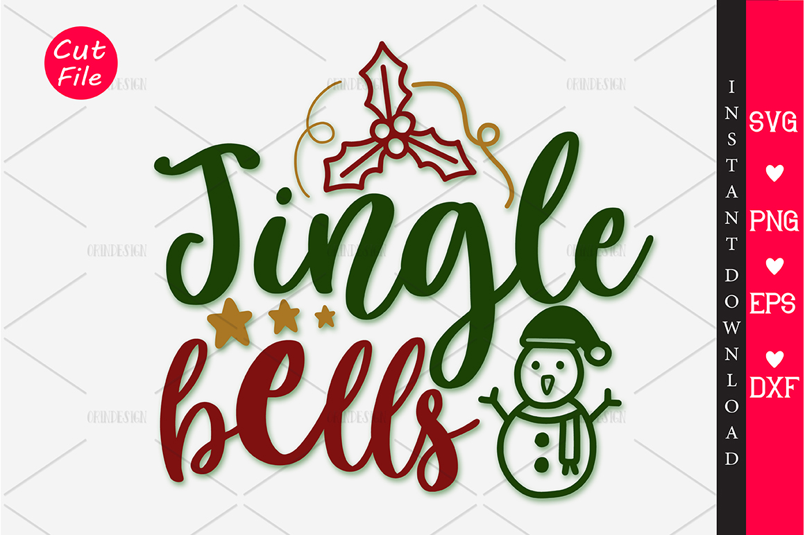 Download Free Jingle Bells Graphic By Orindesign Creative Fabrica for Cricut Explore, Silhouette and other cutting machines.