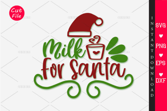 Download Free Milk For Santa Svg Graphic By Orindesign Creative Fabrica for Cricut Explore, Silhouette and other cutting machines.