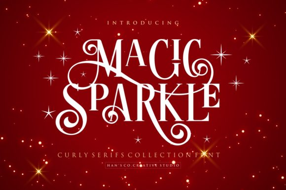 Print on Demand: Magic Sparkle Serif Font By HansCo
