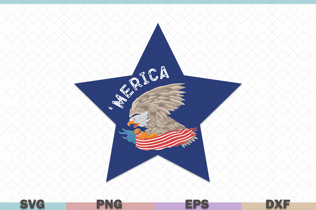 Download Free Merica Usa Eagle Graphic By Graphicza Creative Fabrica for Cricut Explore, Silhouette and other cutting machines.