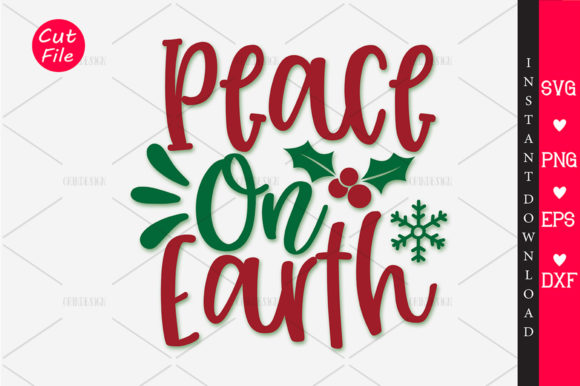 Print on Demand: Peace on Earth Grafik Plotterdateien von OrinDesign