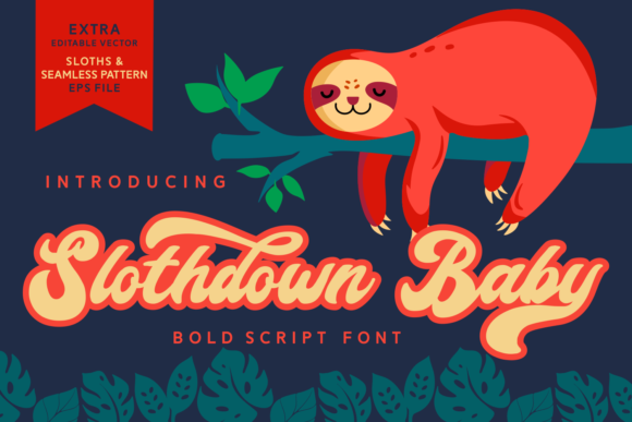 Print on Demand: Slothdown Baby Script & Handwritten Font By Dreamink (7ntypes)