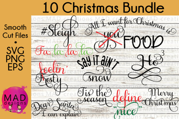 Funny Christmas Bundle Graphic By maddesigns718