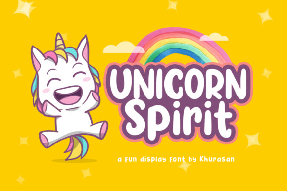 Print on Demand: Unicorn Spirit Display Font By Khurasan