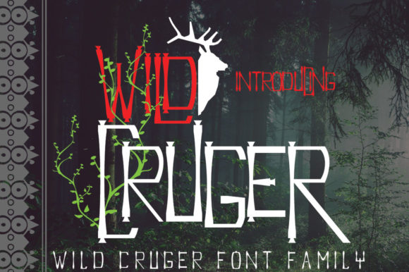 Print on Demand: Wild Cruger Display Font By jehansyah251