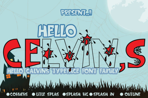 Print on Demand: Hello Celvins Display Font By jehansyah251 - Image 10