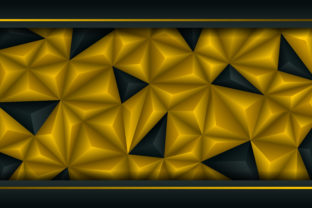 Abstract Polygonal Background Gold Black Graphic By noory.shopper