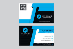 Black Blue Business Card Geometric Graphic By noory.shopper