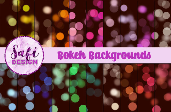 Print on Demand: Bokeh Backgrounds Graphic Backgrounds By Safi Designs
