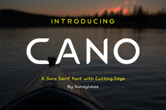 Print on Demand: Cano Sans Serif Font By sandylukee
