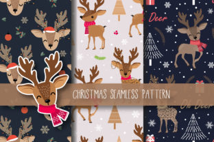 Christmas Seamless Pattern Reindeer Graphic By Jannta