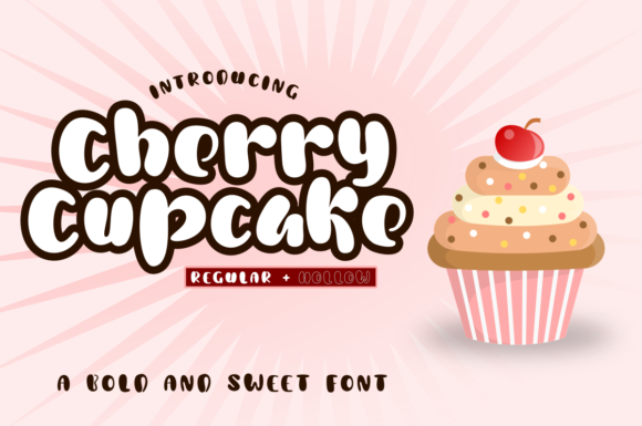 Print on Demand: Cherry Cupcake Display Font By estede75