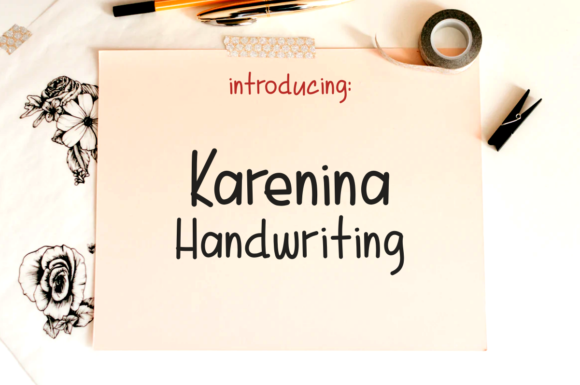 Print on Demand: Karenina Handwriting Script & Handwritten Font By deedeetype