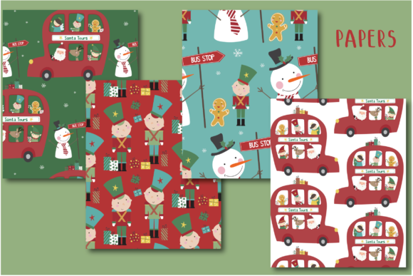 Print on Demand: Santa Tours Paper Graphic Patterns By poppymoondesign - Image 2