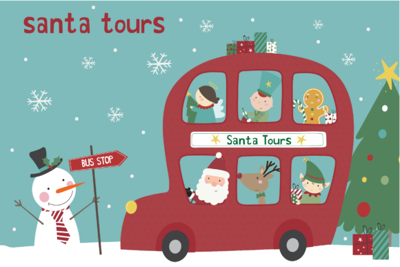 Print on Demand: Santa Tours Graphic Illustrations By poppymoondesign