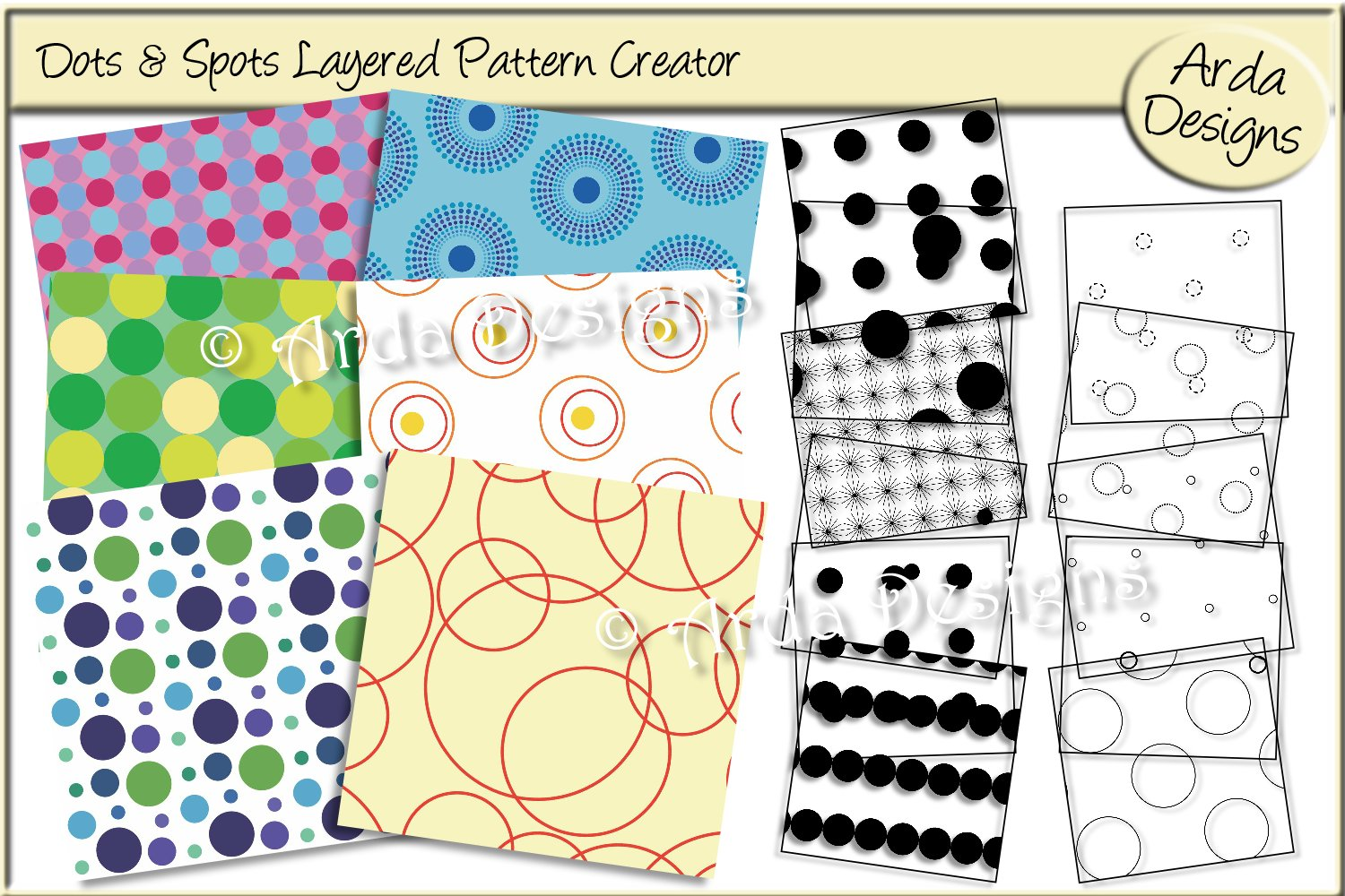 Download Free Dots And Spots Layered Pattern Creator Graphic By Arda Designs for Cricut Explore, Silhouette and other cutting machines.