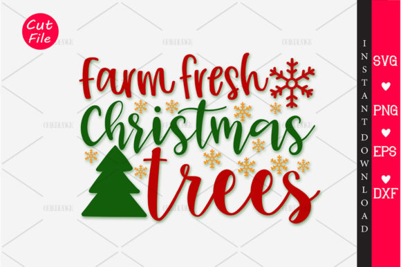 Download Free Farm Fresh Christmas Trees Svg Graphic By Orindesign Creative for Cricut Explore, Silhouette and other cutting machines.